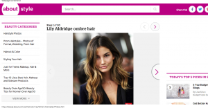 Ombré Hairstyles Photos Lily Aldridge